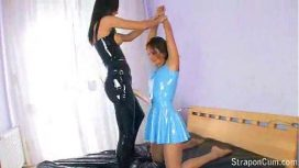 Straponcum – Latex Lesbians Fucking With Their Strapons