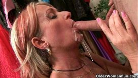 Older Woman Fun – Blow Your Load On Her Face And In Her Mouth USA Video