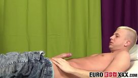 Euro Boy X – Horny Blond Euro Anally Pounding His Tight Masseur Gay Video