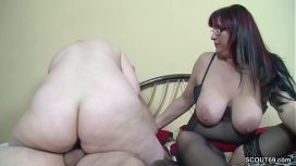 Scout69 Com – German Old Couple Seduce Step Daughter To Fuck In Threesome Deutsch Video