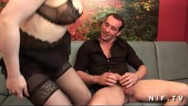 Nude In France – Amateur French Brunette In Stockings Fucked Hard In Threeway Francaise Video
