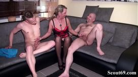 Scout69 Com – Bi Jenny – Daddy And Step Son Fuck German Milf In Hard Threesome