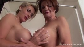 Deauxma And Tanya Tate Shower During Live Show Lesbians Vid