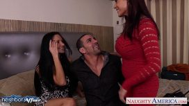 Naughty America – Hot Neighbors Ava Addams And Raylene Lick Twats And Share Cock