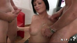Nude In France – Big Boobed French Milf Gets Hot Shower And Hard Fucked In Threesome