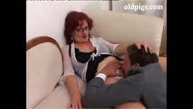 OldPigsX – Upper Class Milf Orders To A Young Man To Fuck