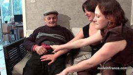 Nude In France – Emy Russo – Ffm Two French Brunette Sharing An Old Man Cock Of Papy Voyeur