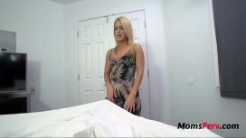 Blonde Mom Hesitates To Fuck Son Candice Dare
