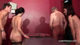 Nude In France – Young French Babes Banged And Sodomized In 4some With Papy Voyeur