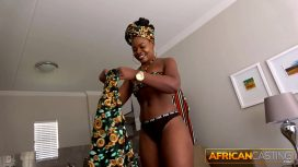 African Porn – Black Booty Sucks Big White Cock On Casting African Porn