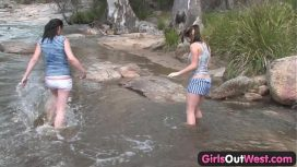Angela White – Girls Out West Aussie Lesbian River Sex
