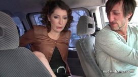 Nude In France – Exhib Milf Masturbating In The Taxi Before Getting Ass Fucked By The Driver