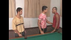 More Free Gay Porn – Hot Gay Threesome On The Pool Table Gays Porno