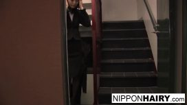 Nippon Hairy – Double Dicked Hottie Gets A Creampie JAV HD Video