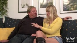 MMV Films – Laureen Pink – Horny Blonde Babe Does Old Guy A Favour