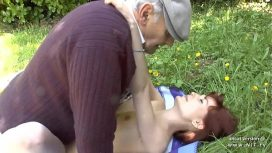 Nude In France – Pretty Amateur Young French Redhead Banged By Oldman Voyeur Outdoor