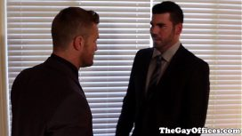 The Gay Office – Landon Conrad – Ripped Officehunk Buttfucks Bear Billy Santoro  Gays Porn