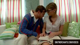 Smut Merchants – Cute Nerdy American Teen Victoria Lawson Is Seduced By A German Stud