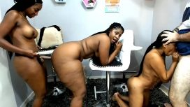 Super Thick Colombian Ebony Amateur Orgy With Strap On
