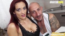 Casting Alla Italiana – Amateur Euro Italian Milf Mary Rider Feeds Her Horny Holes With Big Cock