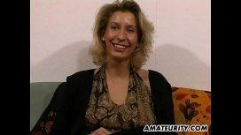 Amateurity – Amateur Milf Toys And Strokes A Dick With Cum On Tits