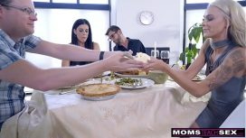Nubiles Porn – India Summer – Mom Fucks Son And Eats Teen Creampie For Thanksgiving Treat