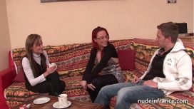 Nude In France – Candice Marchal – Ffm Pretty Amateur French Milf Hard Anal Penetration For Her Casting Couch