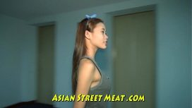 Asian Street Meat – Little Asian Girlette With Bobbing Boobies