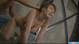 Jav HD – Filthy Babe In Tight Red Bikini Sucking Random Poles And Dildo Fucked