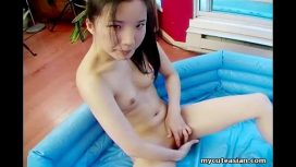 My Cute Asian – Almond Tease – Skinny Tight Ass Asian Teen Fingers Her Wet Pussy