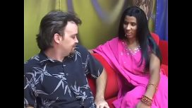 Sex Mission – Aziza Diamond – Young Indian Lady Gives An Older Man A Blow Job On A Red Couch