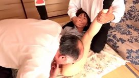 Tiny Japanese Teen In Postal Uniform Abused And Fucked Hard By Older Man