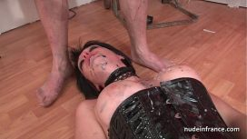 Nude In France – Big Boobed French Babe Hard Corrected In Bdsm Action Francaise Porn