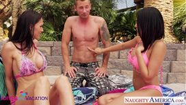 Naughty America – Wives Jennifer Dark And Luna Star Share Cock In Vacation