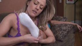Intense Foot Worship By Blonde Lesbian Sex