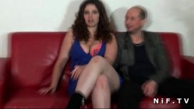 Nude In France – Chubby French Amateur Brunette Hard Fucked In Front Of Her Cuckhold Husband
